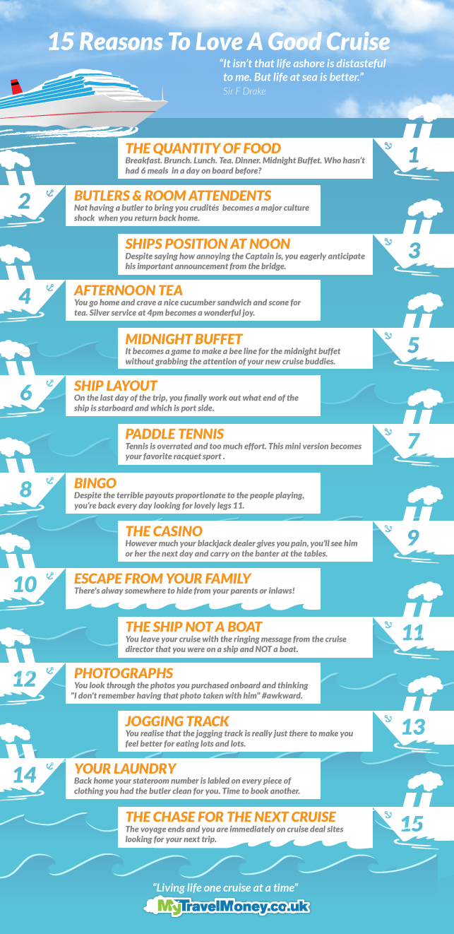 Top 15 Reasons To Love Cruise Ships