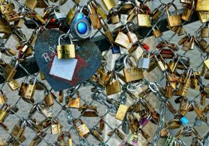 Locks on a wall