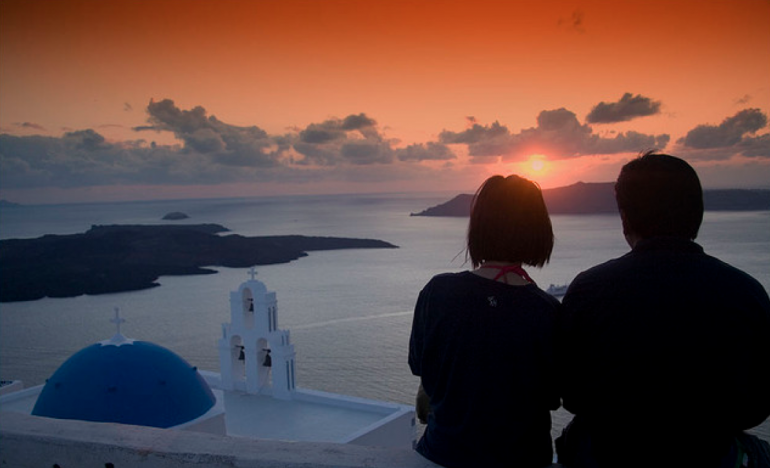 Santorini romantic