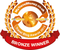 Bronze Winner - MyTravelMoney.co.uk's Travel Blog Awards 2012